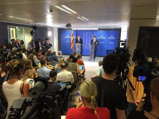basın toplantısı görüntüsü